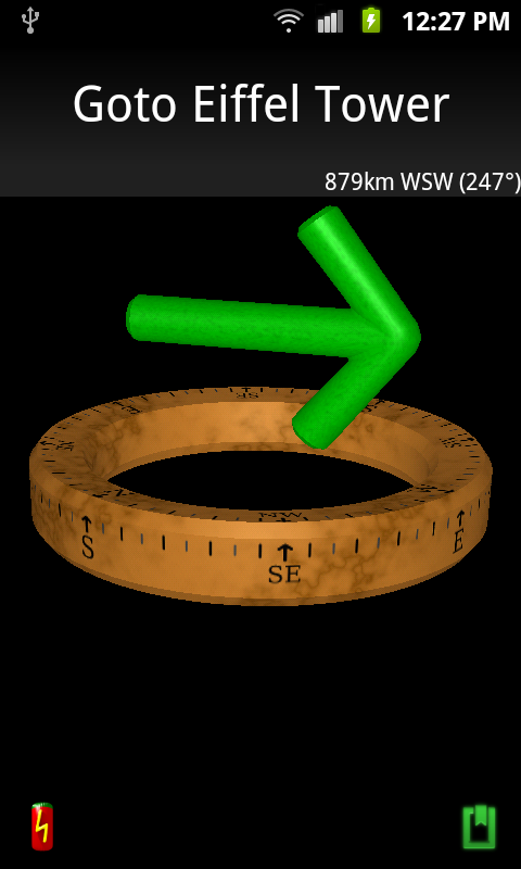 Screenshot of Compass Navigator 3D